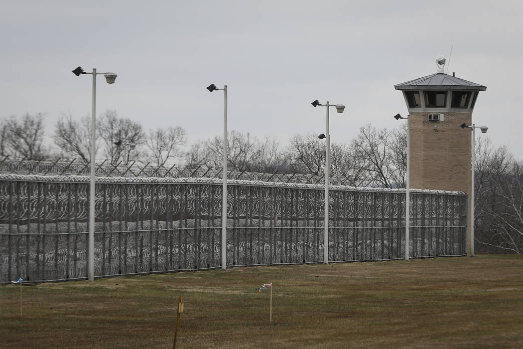 In this Wednesday, Jan. 9, 2019 photo, fences line the exterior of the Southern Ohio Correctional Facility, in Lucasville, Ohio. A newly released video of a 2017 attack between inmates at the faci ...