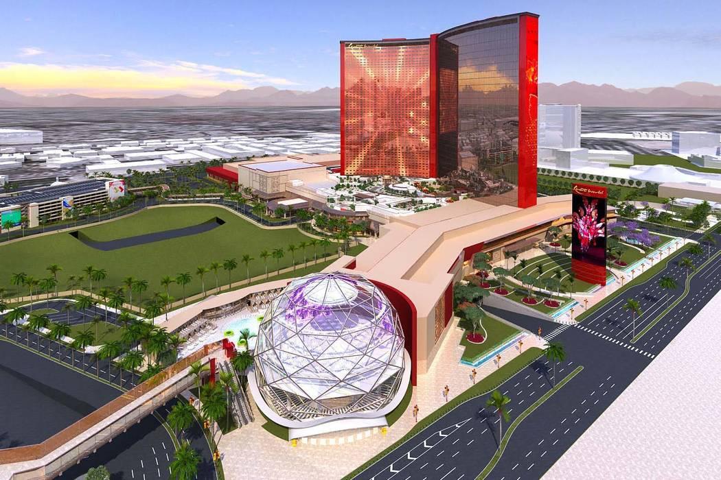 Rendering of Resorts World being built on the Las Vegas Strip. (Genting)