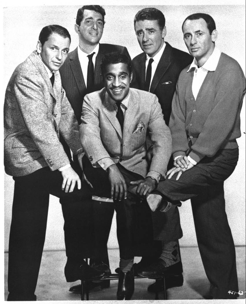 "From left to right: Frank Sinatra, Dean Martin, Sammy Davis Jr., Peter Lawford and Joey Bishop star in the 1960 Warner Brothers' movie, ""Ocean's Eleven."" (AP Photo)"