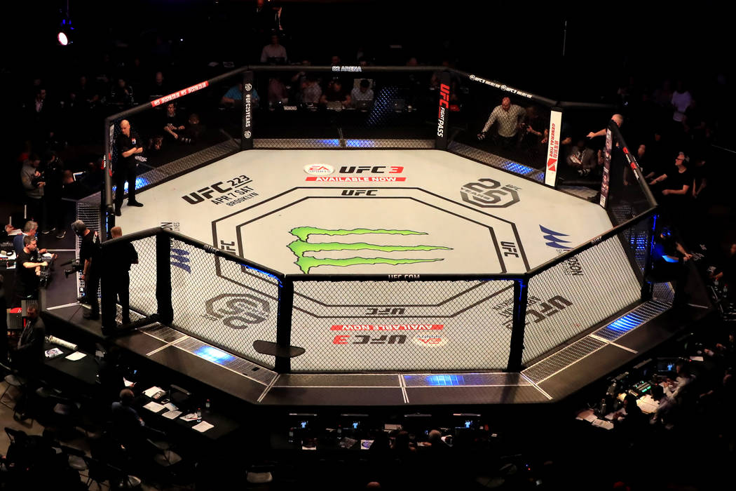 UFC Fight Night - The O2 Arena. A general view of the Octagon at The O2 Arena, London