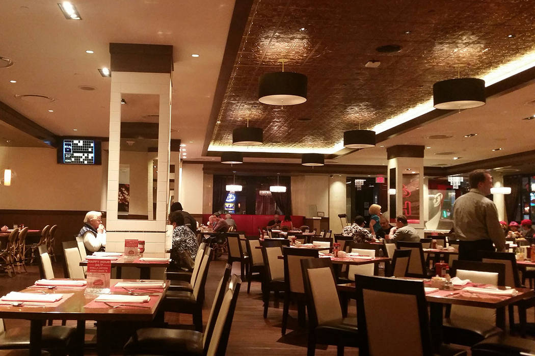The dining area is shown at Siegel's 1941 inside the El Cortez. (Las Vegas Review-Journal)
