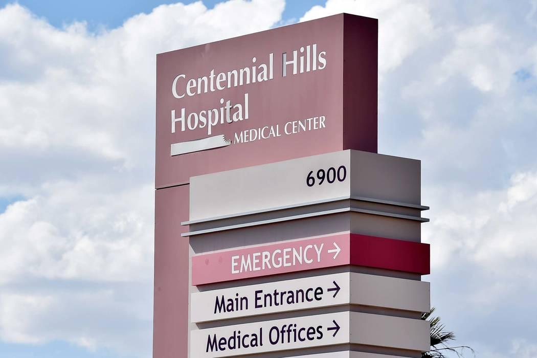Centennial Hills Hospital is seen on Friday, April 24, 2015, in Las Vegas. (David Becker/Las Vegas Review-Journal)