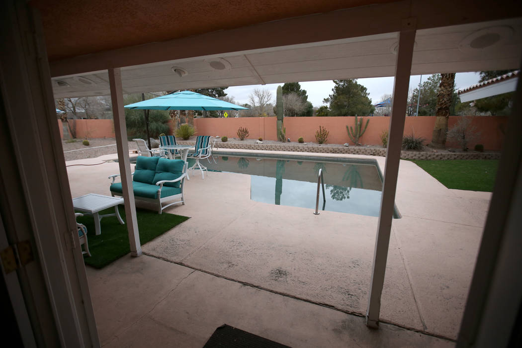 """The former home of Las Vegas mobster Tony """"The Ant"""" Spilotro at 4675 Balfour Drive in Las Vegas is for sale Monday, Jan. 14, 2019. The four-bedroom, two-bathroom home near East Tropicana ..."""