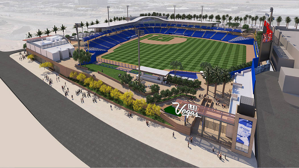 This artist's rendering shows what the Las Vegas Ballpark will look like. It is scheduled for completion in April 2019.