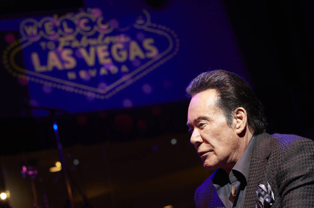 In this Jan. 18, 2019, photo, Wayne Newton speaks with the Associated Press at Caesars Palace in Las Vegas. Newton is marking his 60th anniversary of performing in Las Vegas in 2019 with a return ...