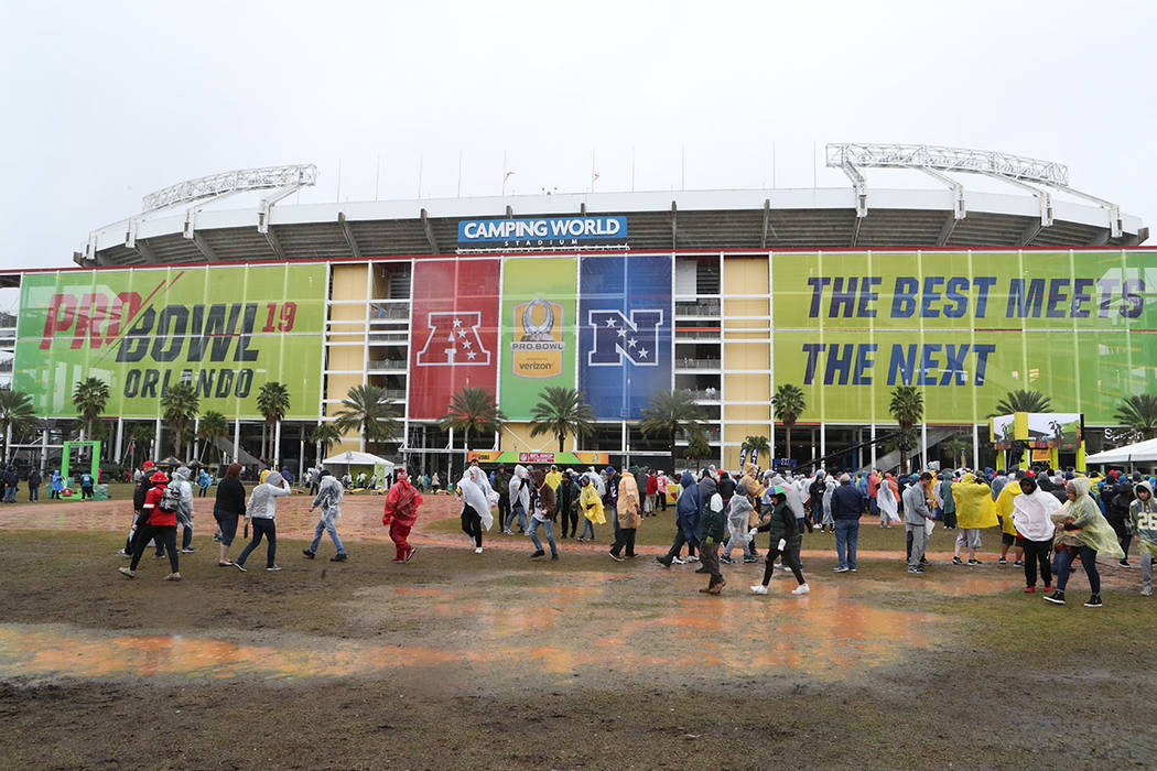 aaffae7d9 A general view exterior of Camping World Stadium is seen before the NFL Pro  Bowl football