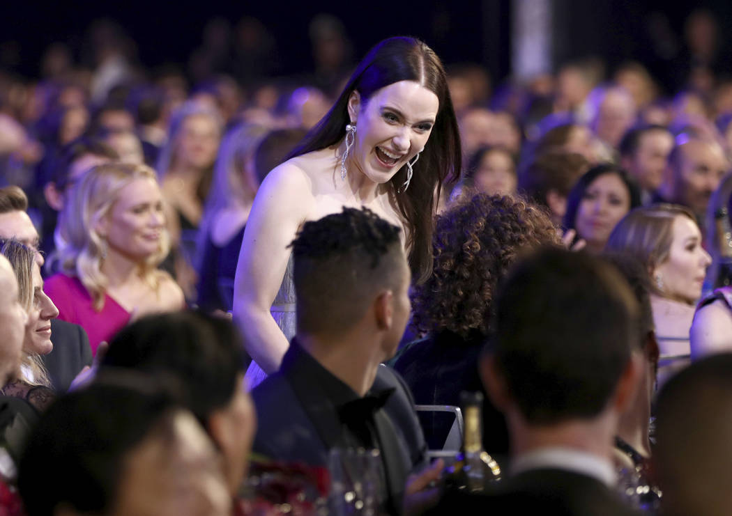 "Rachel Brosnahan walks to the stage to accept the award for outstanding performance by a female actor in a comedy series for ""The Marvelous Mrs. Maisel"" at the 25th annual Screen Actors ..."