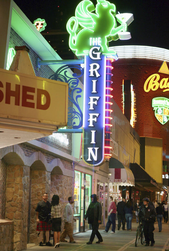The Griffin on East Fremont Street in downtown Las Vegas, Friday, Oct. 20, 2007. (Ronda Churchill/Las Vegas Review-Journal)