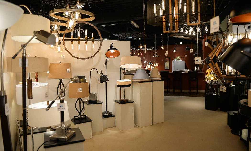The CA Lighting & Accessories exhibit during the second day of the Las Vegas Market held at the World Market Center in Las Vegas, Monday, Jan. 28, 2019. Caroline Brehman/Las Vegas Review-Journal