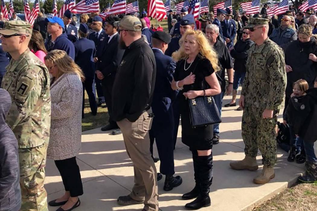 Despite not having any known family, thousands attended Monday's funeral for Vietnam veteran Joseph Walker in Killeen, Texas. (Texas General Land Office Twitter) 