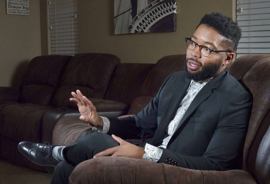 Dwayne Murray is shown during an interview at his home in Las Vegas on Monday, Jan. 28, 2019. Murray won a $42 million settlement against Centennial Hills Hospital after a jury ruled the hospital ...