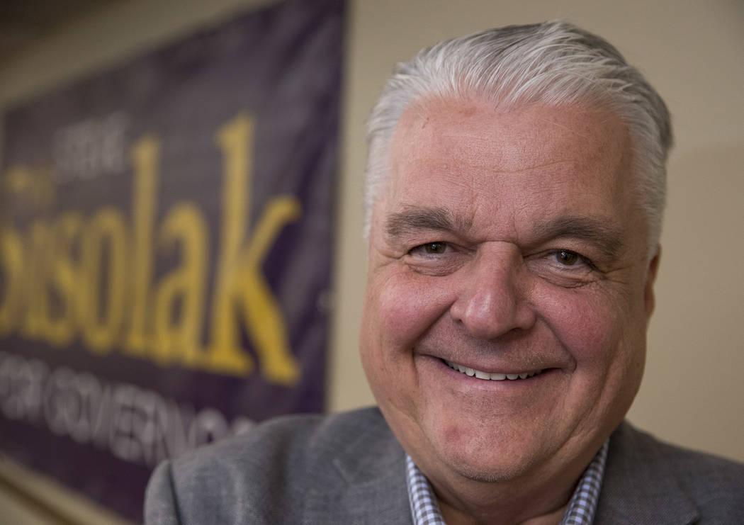Gov. Steve Sisolak. Richard Brian Las Vegas Review-Journal @vegasphotograph