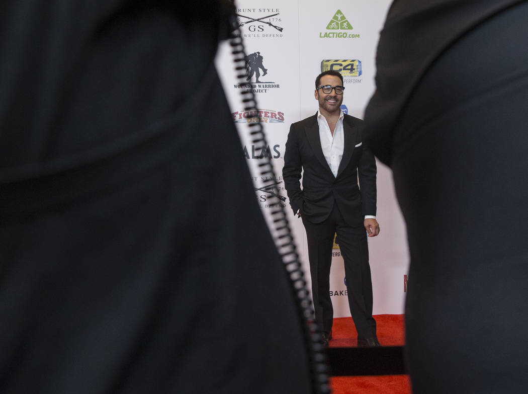 Actor Jeremy Piven during the red carpet event before the start of the 2018 MMA Awards on Tuesday, July 3, 2018, at the Palms hotel-casino, in Las Vegas. Benjamin Hager Las Vegas Review-Journal @b ...