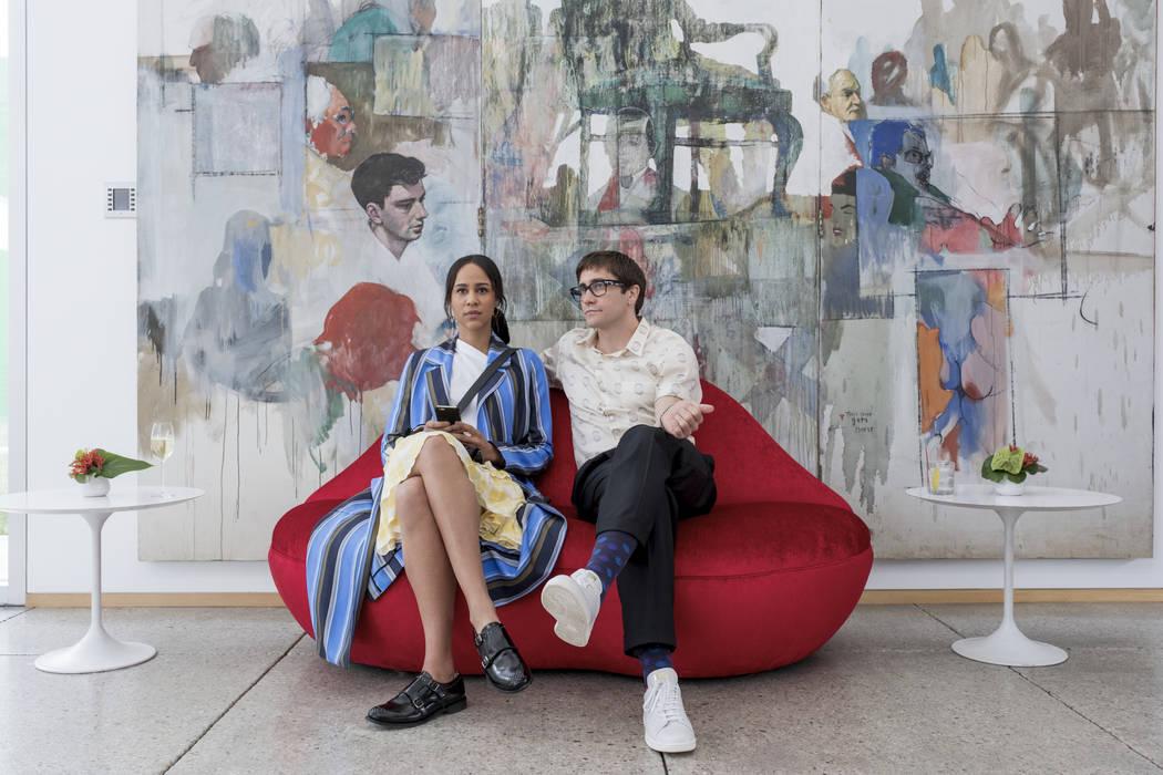 """Zawe Ashton and Jake Gyllenhaal star in """"Velvet Buzzsaw."""" (Claudette Barius/Netflix)"""