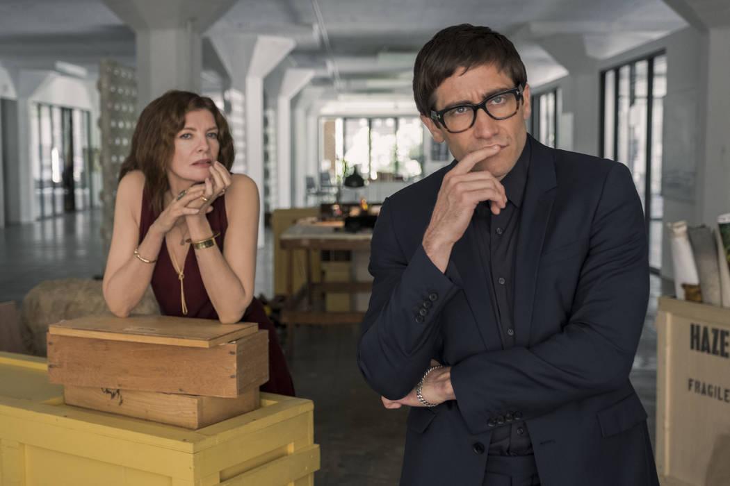 "Rene Russo and Jake Gyllenhaal star in ""Velvet Buzzsaw."" (Claudette Barius/Netflix)"