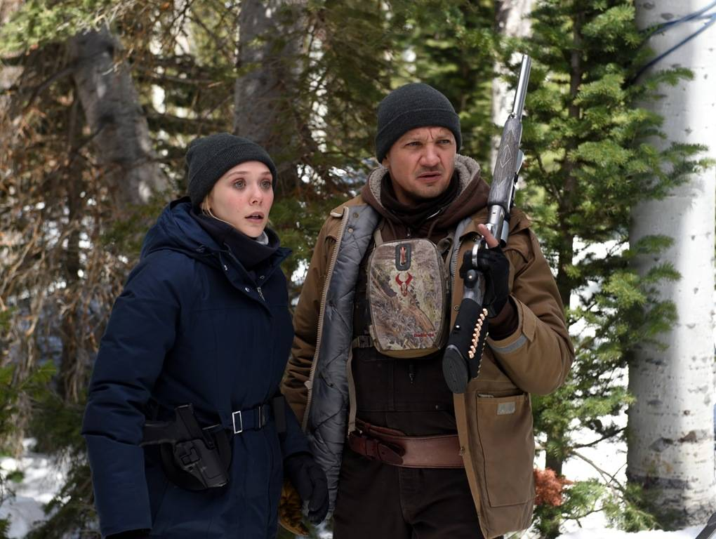 Elizabeth Olsen and Jeremy Renner star in Wind River (Fred Hayes) © 2017 The Weinstein Company. All Rights Reserved