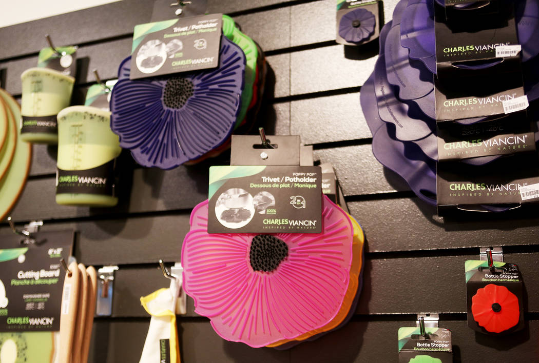 Silicone pot holders at the Charles Viancin showroom at the Las Vegas Market at the World Market Center in Las Vegas, Tuesday, Jan. 29, 2019. (Rachel Aston/Las Vegas Review-Journal) @rookie__rae
