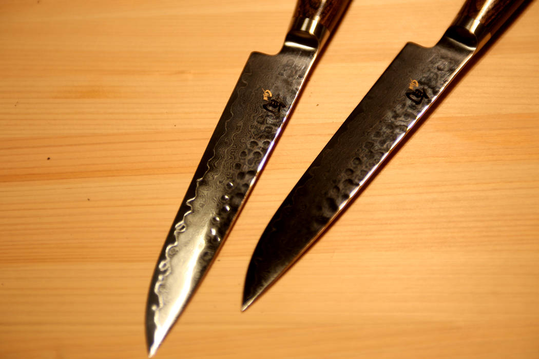 Premier steak knives by Shun Cutlery at their showroom at the Las Vegas Market at the World Market Center in Las Vegas, Tuesday, Jan. 29, 2019. (Rachel Aston/Las Vegas Review-Journal) @rookie__rae