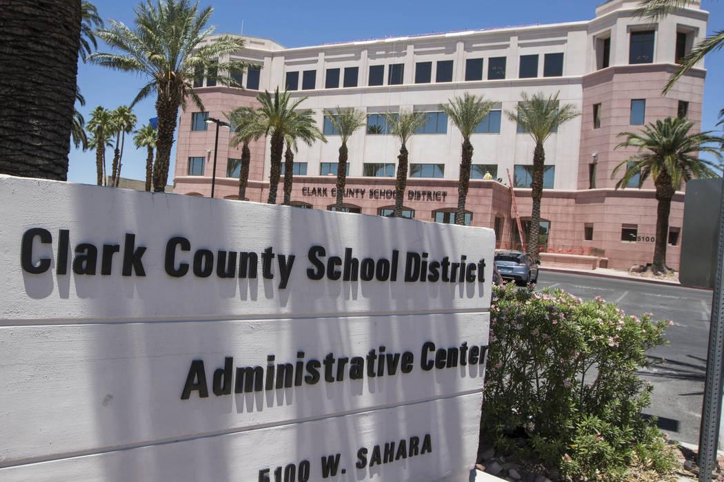 Clark County School District administration building (Richard Brian/Las Vegas Review-Journal) @vegasphotograph