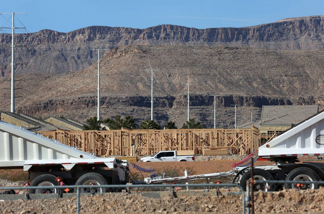 The construction site at the northeast corner of Fort Apache and Russell roads photographed on Wednesday, Jan, 30, 2019, in Las Vegas. (Bizuayehu Tesfaye/Las Vegas Review-Journal) @bizutesfaye