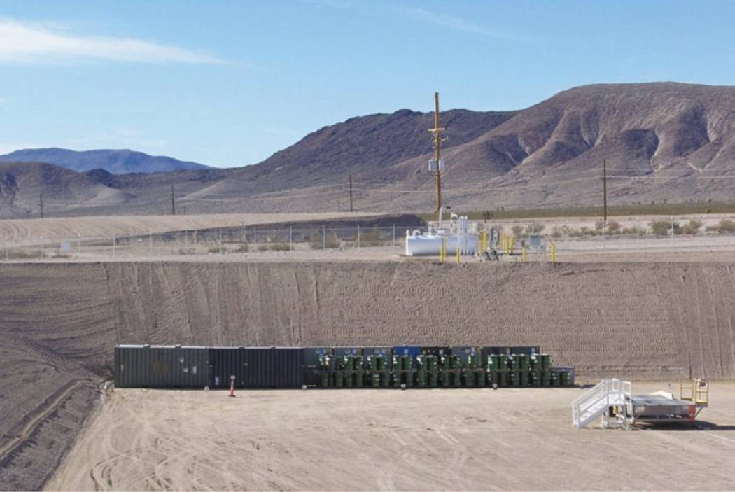 A half metric ton of weapons-grade plutonium was secretly shipped from South Carolina to the Nevada National Security Site, located about 65 miles northwest of Las Vegas. (Photo courtesy Departmen ...