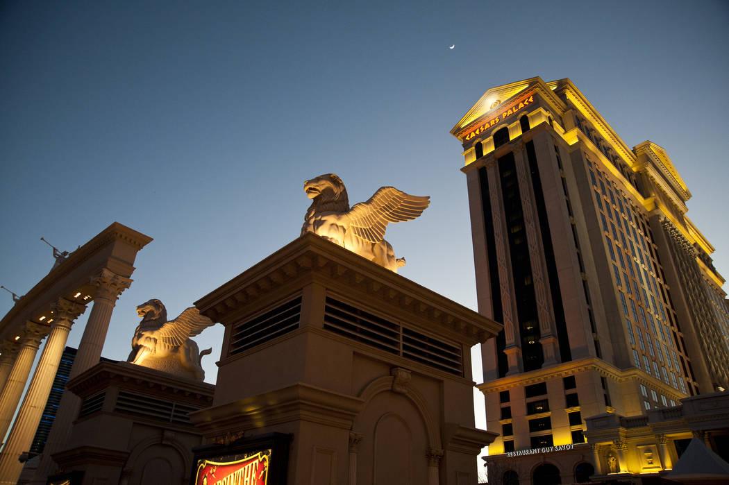 The exterior of Caesars Palace hotel-casino in Las Vegas, Thursday, Feb. 14, 2013. (Martin S. Fuentes/Las Vegas Reveiw-Journal)