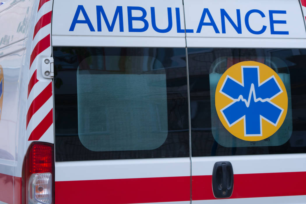 The back of an ambulance is shown. (Getty Images)
