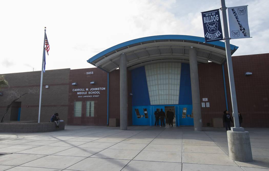Johnston Middle School in North Las Vegas on Wednesday, Jan. 30, 2019. Chase Stevens Las Vegas Review-Journal @csstevensphoto