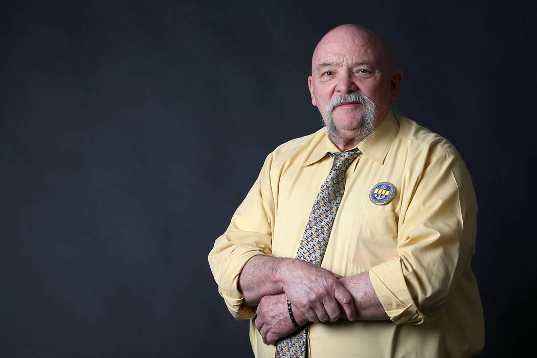 Michael Yates, a Blue Water Navy Vietnam veteran, is photographed at the Las Vegas Review-Journal in Las Vegas, Thursday, Jan. 31, 2019. (Erik Verduzco/Las Vegas Review-Journal) @Erik_Verduzco