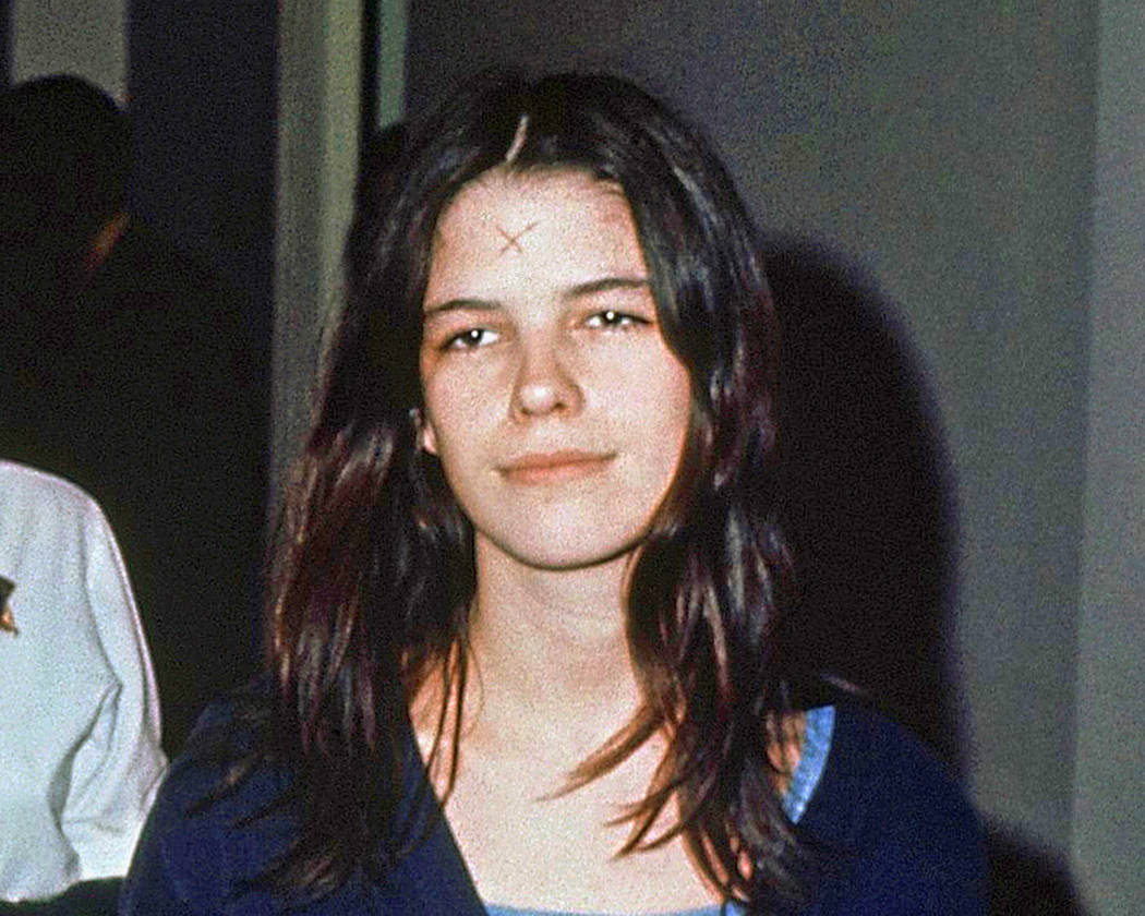 This March 29, 1971, file photo shows Leslie Van Houten in a Los Angeles lockup. The youngest follower of murderous cult leader Charles Manson will ask a state panel to recommend her for parole. V ...