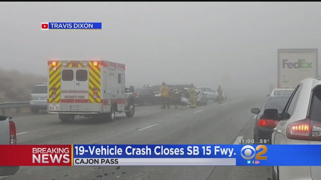 Massive crash clogs I-15 between Las Vegas, Los Angeles   Las Vegas