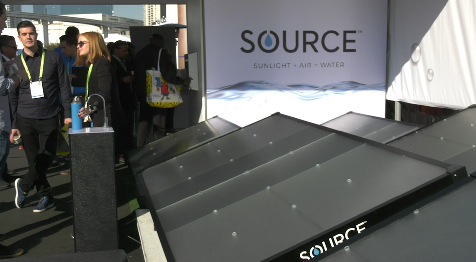 CES 2019: Making water out of thin air — VIDEO