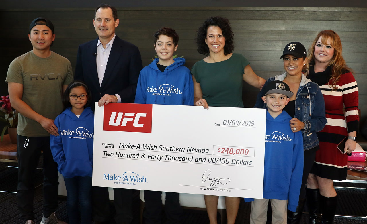 UFC donates $240K to Make-A-Wish Southern Nevada — VIDEO