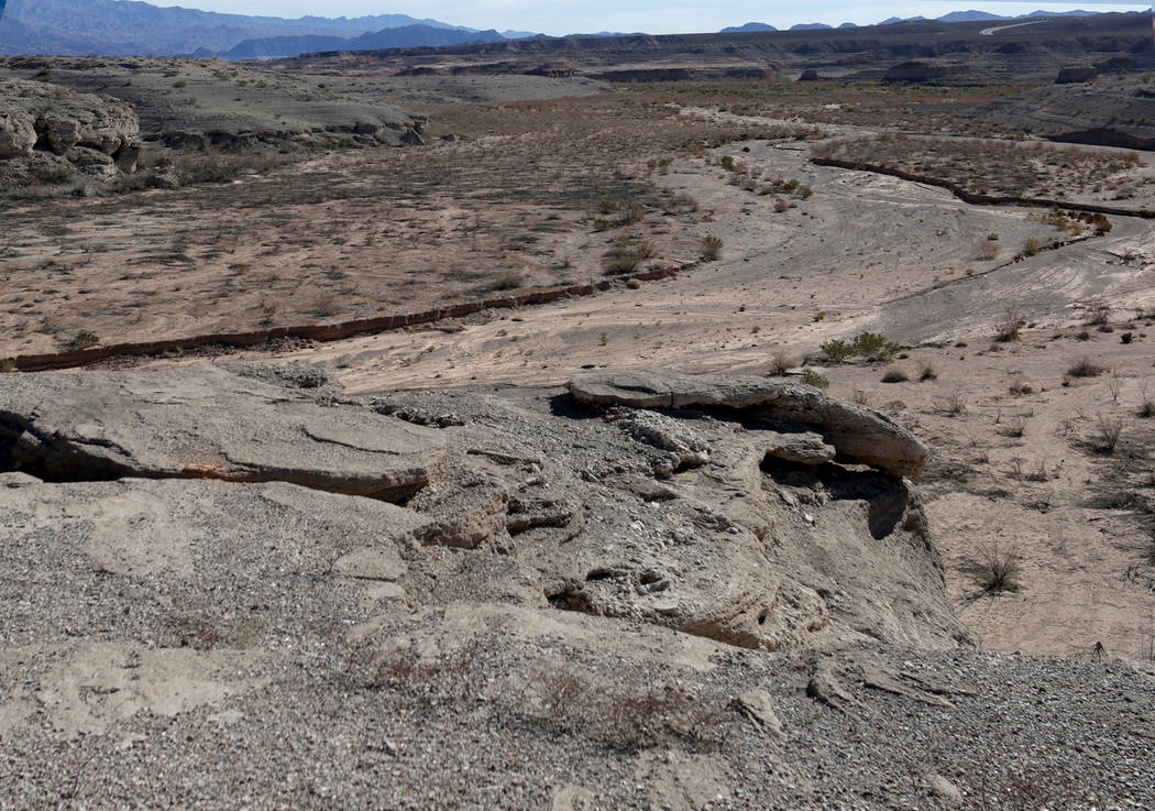 Gypsum Point at Lake Mead National Recreation Area as seen on January 25, 2019. (Michael Quine/Las Vegas Review-Journal) @Vegas88s