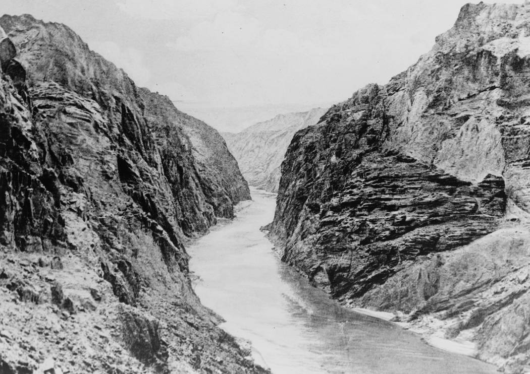 Black Canyon prior to Hoover Dam construction. (Library of Congress)