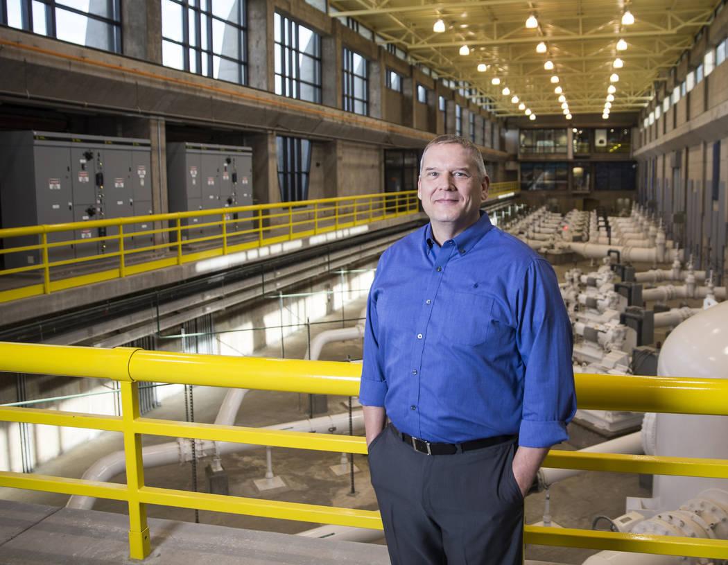 Southern Nevada Water Authority General Manager John Entsminger at Springs Preserve on Tuesday, Jan. 29, 2019, in Las Vegas. (Benjamin Hager/Las Vegas Review-Journal) @BenjaminHphoto