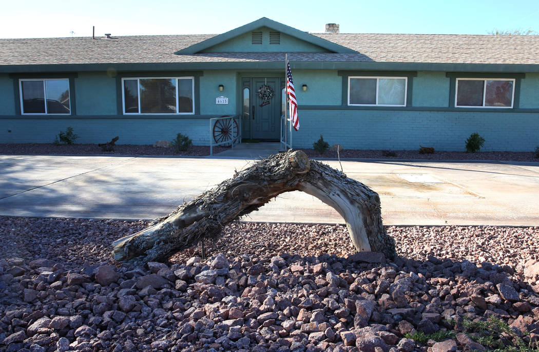 Desert adapted plants and a low maintenance desert front yard at Mary Kiosowski Lewis', not photographed, home is seen on Thursday, Dec. 13, 2018, in Las Vegas. Bizuayehu Tesfaye Las Vegas Review- ...