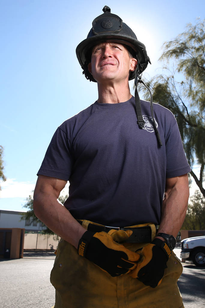 Darcy Loewen, a former NHL and IHL hockey player and now North Las Vegas Fire Department officer, at the North Las Vegas Fire Station 52 in Las Vegas, on Tuesday, Dec. 4, 2018. Erik Verduzco Las ...
