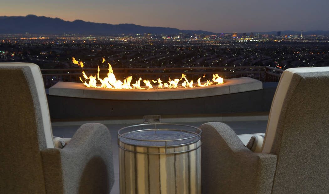 The home features sweeping views of the Las Vegas Strip. (Bill Hughes/Real Estate Millions)