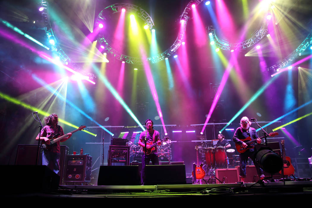 Keith Moseley, Michael Kang, Bill Nershi (L-R) and the String Cheese Incident performs at the 2014 Lock'n Festival on Friday, September 5, 2014, in Arrington, Virginia. (Photo by John Davisson/Inv ...
