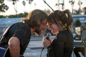"Bradley Cooper as Jack and Lady Gaga as Ally in the drama ""A Star is Born"" from Warner Bros. (Neal Preston)"