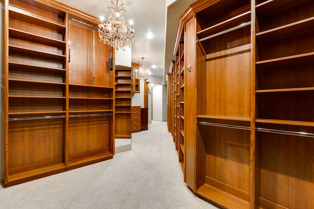The master closet in unit 1603 in One Queensridge Place. (Ivan Sher Group)