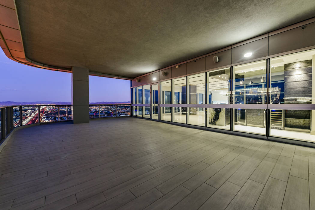 Unit 4307 in Panorama Tower, 4471 Dean Martin Drive, was sold for $3 million and came in at No. 10 on the list. (Realty One Group)
