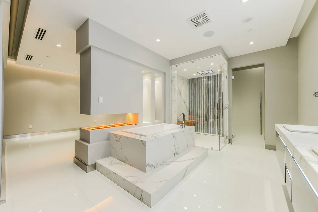 The master bath in unit 4307 in Panorama Tower. (Realty One Group)