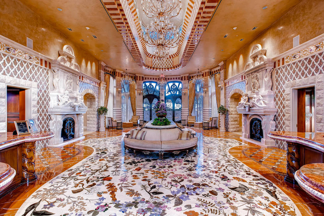The lobby at One Queensridge Place sets the luxury tone for the off-Strip high-rise. Two of the property's condos hit the Top 10 list this year. (Char Luxury Real Estate)