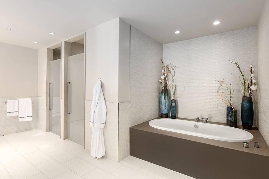 The master bath in Waldorf Astoria unit No. 2403. (Luxury Estates International)