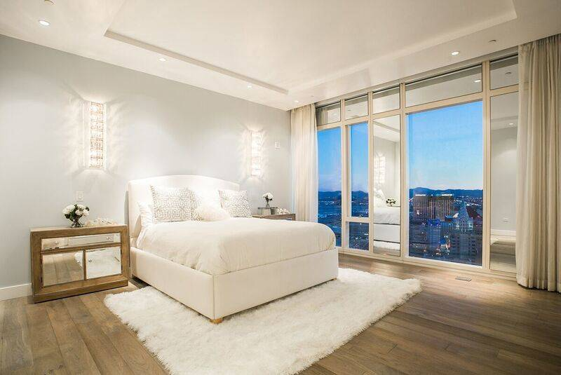 The master bedroom in unit 4502 in Waldorf Astoria. (Award)