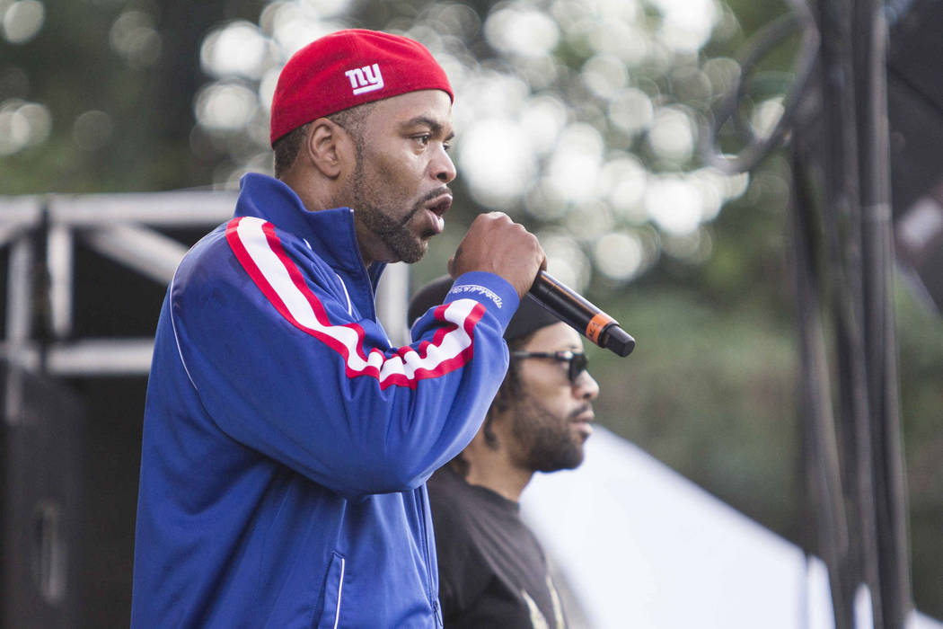 Clifford Smith and Reggie Noble as Method Man & Redman performs during the ONE Musicfest at Aaron's Amphitheatre at Lakewood on Saturday, Sep. 13, 2014, in Atlanta. (Photo by Katie Darby/Invis ...