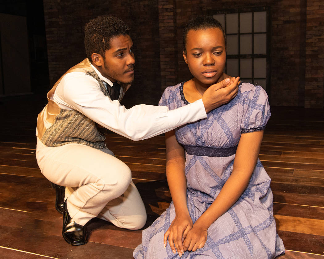 """""""The African Company presents Richard III"""" at UNLV (Richard Brusky/Nevada Conservatory Theatre)."""