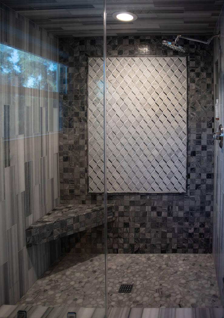 The master shower. (Tonya Harvey/Real Estate Millions)